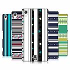 HEAD CASE DESIGNS PRINTED STRIPES HARD BACK CASE FOR SONY PHONES 2
