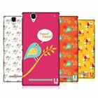 HEAD CASE DESIGNS BIRD PATTERNS HARD BACK CASE FOR SONY PHONES 3