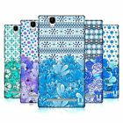 HEAD CASE DESIGNS FLORAL BLUE HARD BACK CASE FOR SONY PHONES 3