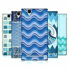 HEAD CASE DESIGNS SEA WAVE PATTERNS HARD BACK CASE FOR SONY PHONES 3