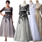 SIZE 2-16 18W~24W Vintage Long Masquerade Ball Gown Party Evening Dresses Black