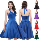 Retro 50s 60s VINTAGE DRESS Evening Party Swing Pinup Housewife Dress