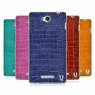 HEAD CASE DESIGNS CROCODILE SKIN PATTERN SOFT GEL CASE FOR SONY PHONES 3