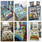 CONSTRUCTION DUVET COVERS VARIOUS DESIGNS AVAILABLE IN SINGLE & DOUBLE BEDDING