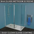 Metro Walk In Wet Room Shower Enclosure 8mm Glass Easy Clean Screen Panel