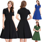 NEW Vintage Style Retro 50S 60S Pin up Evening Party Swing Tea Dress