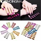 Métallic Faux Ongles Capsules French Gel UV Acrylique Extension Nail Art Tips