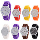 Silicone Rubber Quartz Analog Watches Fashion Sports Womens Wrist Watch Mens  image