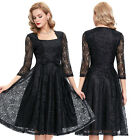NEW SALE FLORAL Short Lace Vintage Wedding Dress Bridal Gowns dresses Black S-XL