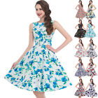 UK Womens Vintage 1970's 1950's Party Evening Swing Dresses Size S-XL