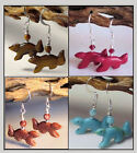 Squirrel fetish Animal Critter Gemstone Earrings * Your choice of color /stone
