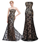 Women/Ladies Vintage Lace Evening Formal Cocktail Party Wedding Bridesmaid Dress