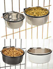 ProSelect Stainless Steel Coop Cup Dog Bowl for Cage Crate Pet food water bowl