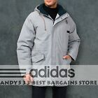 Adidas Winter Jacket Men Warm Winter Coat Hooded Down Parka Alaska Snow Top L XL