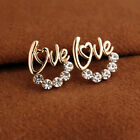 2016 New Fashion Women Lady Elegant Crystal Rhinestone Ear Stud Earrings 1 Pair