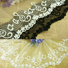 MAT319 One yard White OR BLACK TULLE Embroidery Lace Fabric MUSIC treble clef