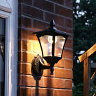 SOLAR POWERED OUTDOOR GARDEN MOUNTABLE WALL LANTERN LAMP SECURITY LIGHT, 6 LEDS