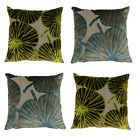Scatter Box Palm Leaf Chenille Feather Filled Cushion