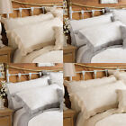 Paoletti Fayence Embossed 100% Cotton Scalloped Edge Pillow Sham