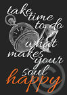 Poster*Druck*DIN A4*Fine Art*what makes you happy*Made by Mrs. B.-Design*