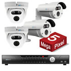 4 Zxtech 5MP 5 Megapixel Ultra HD CCTV Cameras Cloud IP PoE Security System