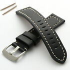 Genuine Leather Watch Strap Band Brushed Buckle 18 20 22mm 24mm Men's Women's