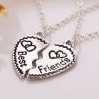 2pcs/3pcs Best Friends Bitches Forever Heart Friendship Necklace Pendant Chain