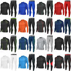 Men Sports Apparel Skin Tights Compression Base Under Layer Shirts & Pants SET