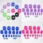 "8 ga-3/4"" Silicone Flesh Tunnels Double Flared Plugs Expander Stretcher Gauges"