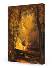 """DecorArts-""""The Trout Pool""""-Worthington Whittredge Painting Wall art.Giclee Print"""