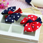 2pcs Chic Kids Baby Girls Dot Hair Pins Clips Bowknot Hairpin Hair Accessories