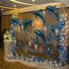 10pcs Large Pink Blue Dolphin Foil Balloon Birthday Party Wedding Decoration