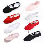 Внешний вид - Children Adult Canvas Split Sole Ballet Dance Shoes Pointe Slippers Size 24-45