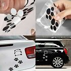 Cute Black/White Panda Footprint Pattern Car Sticker Window Mirror Laptop Decal