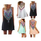 Ladies Beach Feather Detail Dress Floaty Cover Up Chiffon 6 8 10 12 14 16
