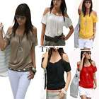 Sexy Women Off Shoulder Short Sleeve T-Shirt Blouse Tops Tee Shirts Summer TXWD