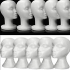 Kyпить White Female Polystyrene Mannequin Head Dummy Wig Stand Shop Display Hat Cap UK на еВаy.соm