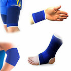 Elastic Support Brace Wrist Ankle Thigh Elbow Joint Sports Bandage Neoprene Blue