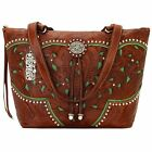 New American West® Lady Lace, All Leather Zip Top Bucket Tote