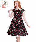 HELL BUNNY 40s 50s FRANCINE DRESS BLACK