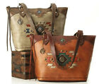 New American West® Zuni Passage, All Leather Zip-Top Tote- 2 Color Choices