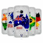 HEAD CASE DESIGNS GEOMETRIC MAPS SOFT GEL CASE FOR HTC ONE MINI 2