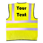 PRINTED Pack of 10, 50 or 100 Hi-Viz Safety Vest EN471 Yellow or Orange FREE P&P