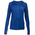 Soc Womens Full Zip Hoodie Fitness Track Sport Running Gym Blue Long Sleeves