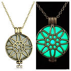 Hot Glowing Steampunk Pretty Magic Sun Flower Glow In The Dark Necklace Pendant