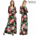 New Women Long Black Prom Evening Bell Sleeves Party Maxi Plus Size Formal Dress