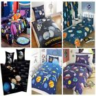SPACE SINGLE DOUBLE JUNIOR DUVET COVER VARIOUS DESIGNS KIDS BEDDING NEW FREE P+P
