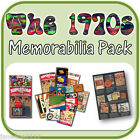 1970s Childhood Memorabilia pack Seventies decade replicas ideal teaching aids