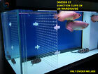Aquarium Acrylic Divider With Holes +4 Suction Cup Betta Fish Guppies US Local