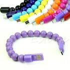 Bracelet Micro USB Data Charging Sync Cable For Samsung Galaxy S3 S4 LG HTC +Box
